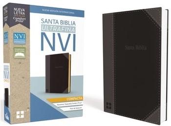 Biblia Ultrafina Compacta Negra (Imitación Piel)