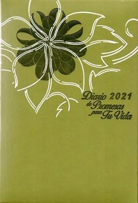 Diario De Promesas Para Tu Vida - 2021 (Semi Piel - Acolchada )