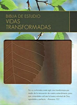 Biblia de Estudio Vidas Transformadas (Piel)
