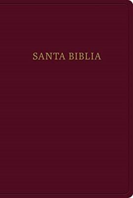 Biblia Letra Gigante, Borgoña Imitación Piel Con Índice (Semi Piel)