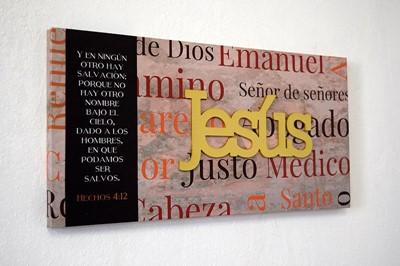 Cuadro Jesús (Hechos 4:12) (lienzo )