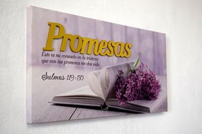 Cuadro Promesas (Salmo 119:50) (lienzo )