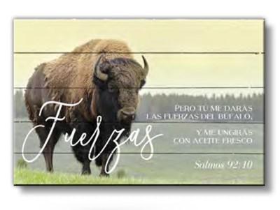Cuadro Fuerzas (Salmos 92:10) - Pallet (Madera )