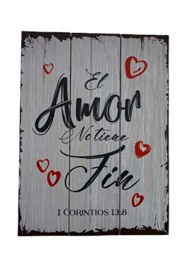 Cuadro El Amor no Tiene Fin (Madera  )