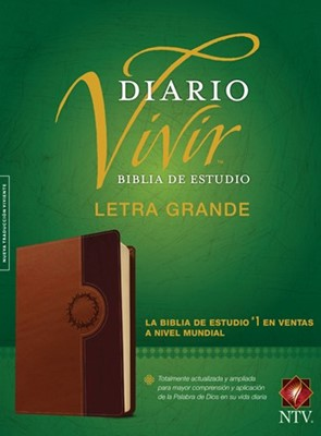 Biblia De Estudio Del Diario Vivir - Letra Grande (Imitación piel dos tono - café claro)