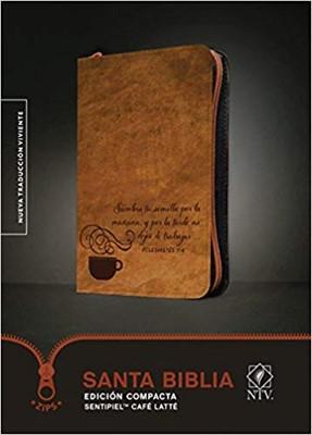 Biblia Compacta Café Latté - NTV (Imitación Piel)