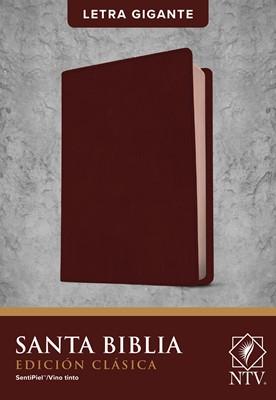 Biblia Edición Clásica Letra Gigante Sentipiel Vino Tinto (Flexible Imitación Piel Vino Tinto)