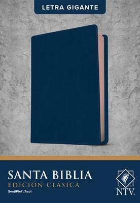 Biblia Letra Gigante Edición Clásica Sentipiel Azul (Flexible Imitacion Piel Azul)