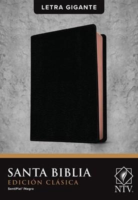 Biblia NTV Letra Gigante Edicion Clasica Sentipiel Negro (Flexible Imitacion Piel Negro)