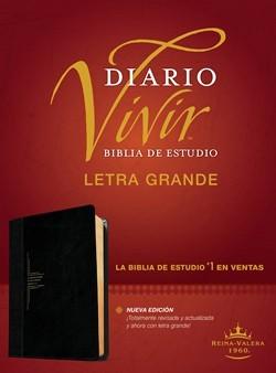 Biblia De Estudio Diario Vivir - Letra Grande (Flexible Imitación Piel Negro)