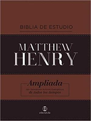 Biblia Estudio Matthew Henry (Piel Especial)
