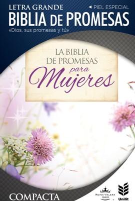 Biblia de Promesas Letra Grande Compacta Floral con Cierre (Imitación Piel)