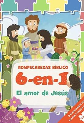 Rompecabezas Bíblico 6 en 1: El Amor de Jesús (Tapa Dura )