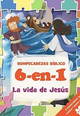 Rompecabezas Bíblico 6 en 1: La Vida de Jesús (Tapa Dura )