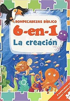 Rompecabezas Bíblico 6 en 1: La Creación (Tapa Dura)