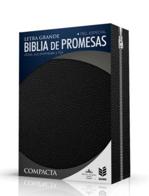 Biblia Promesas Compacta Letra Grande Negra con Cierre