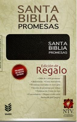 Biblia de Promesas - Edición de Regalo (Imitación Piel Negra)