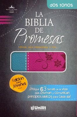 Biblia de Promesas - Edición para Jóvenes (Imitación Piel Duotono Rosa - Turquesa)