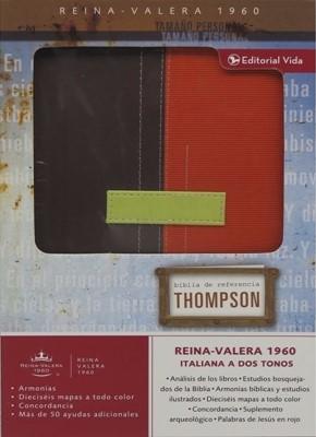Biblia Thompson Duotono Marrón - Terracota (Piel Italiana Dos Tonos Marrón - Terracota)