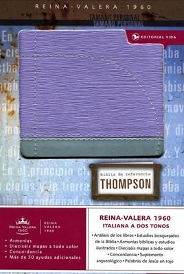 Biblia de Referencia Thompson Tamaño Personal (Piel Italiana Duo Tono Lila/Gris)