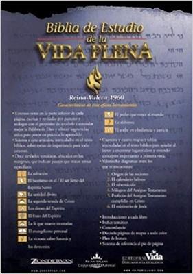 Biblia de Estudio de la Vida Plena (Tapa Dura)