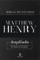 Biblia de Estudio Matthew Henry Negro con Índice