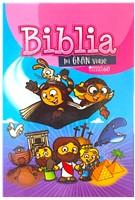 Biblia Mi Gran Viaje Tapa Dura Rosa