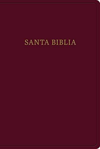 Biblia Letra Gigante, Borgoña Imitación Piel Con Índice