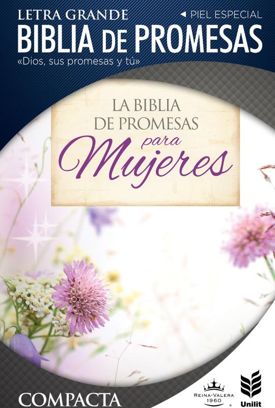 Biblia de Promesas Letra Grande Compacta Floral con Cierre